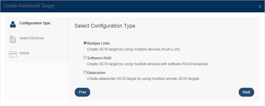 Create Multiple LUNs device
