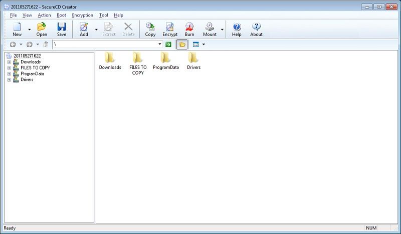 SecureCD Creator Screenshot